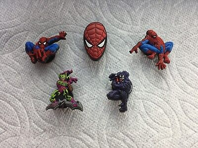 fans para Spiderman Conector zapato//Shoe Charms//Pins//juegos para Clogs//Crocs