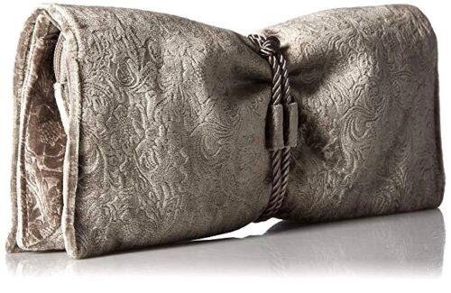 W Wristlet Schultertasche Abend Geschenkbox Mischka Badgley New Tie Front Carbon wx6SZASqP