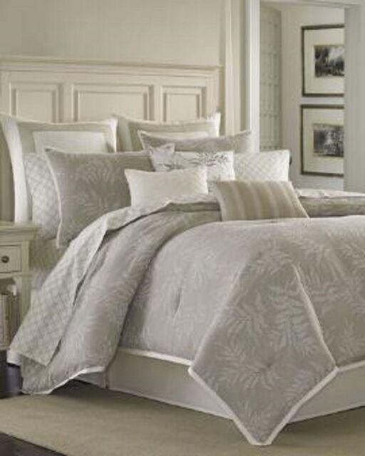 Buy Laura Ashley Queen Comforter Set 4 Piece Bracken Leaves Neutral