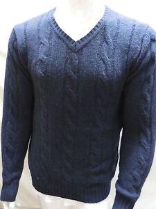 Details about The Savile Row Company London Men V neck Sz M Sweater Navy Shirt NWT Medium