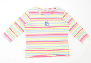 Top-Threads-Sportswear-Womens-Size-S-Striped-Cotton-Blend-Multi-Coloured-T-Shirt