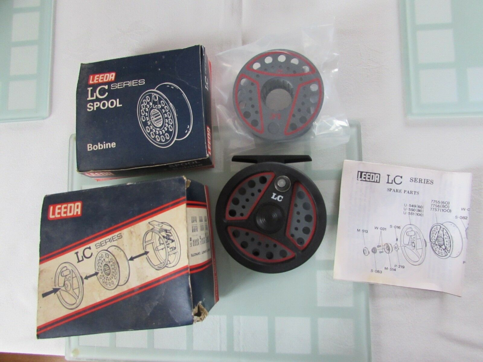 A1 vintage Leeda LC80 trout fly fishing reel  +  spare spool 3.+ 3 8ths  boxed  be in great demand