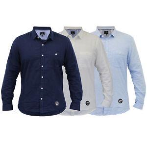 Para-hombres-camisa-de-manga-larga-con-cuello-desgastado-Lino-formales-de-trabajo-informal-de-verano