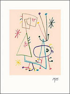 "Joan Miro-Illustrated Poems-/""Parler Seul/"" V-2004 Lithograph"