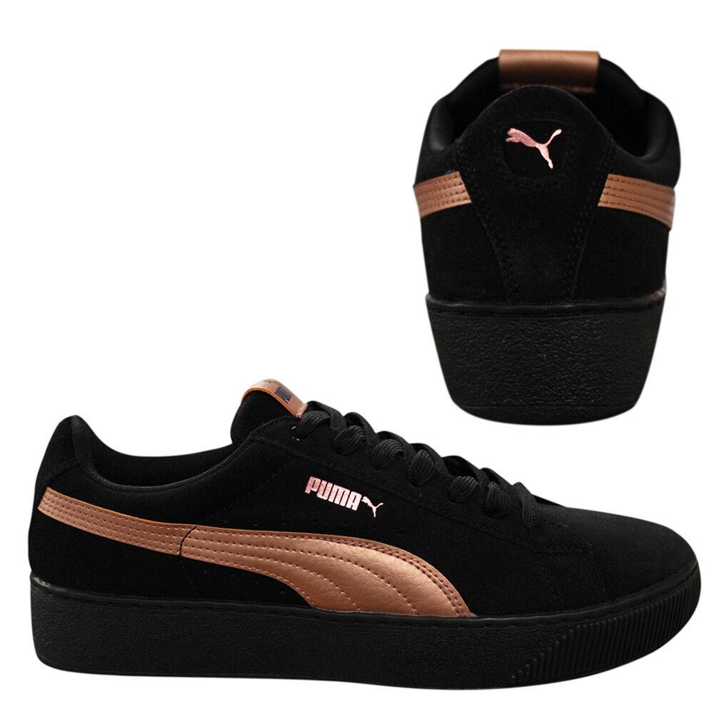 Puma Vikky Plateforme RG en daim à lacets noir femme bas montantes 365965 01 D94