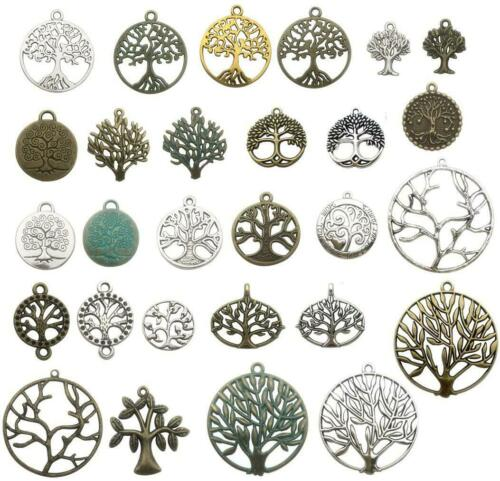 100g Craft Supplies Mixed Tree of Life Pendants Beads Charms Pendants for Crafti