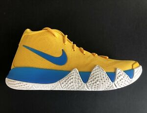 the latest c6408 83e75 Details about Nike Kyrie 4 IV Kix Amarillo Yellow Blue Multi Celtics  BV0425-700 Size Men's 10