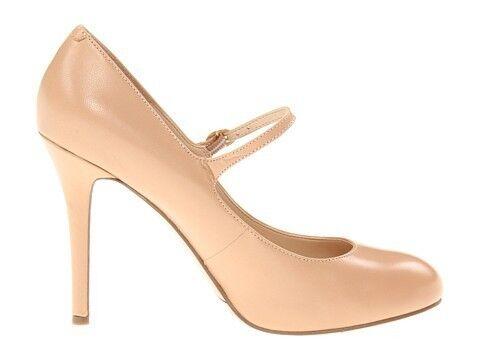Damenschuhe Schuhes Nine West MSKNOITALL Platform Pump Mary Jane Heels Natural Leder