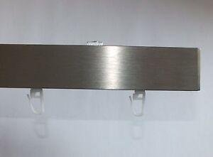 Design Aluminium Gardinenschiene Mit Deckenhaltern Edelstahl Optik Mit Gleitern Ebay