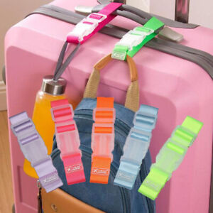 Luggage-Case-Straps-Suitcase-Clip-Protect-Belt-Easy-Adjustable-Buckle-Strap-Lot