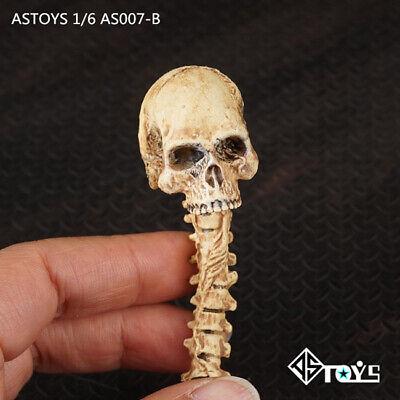 1//6 Scale Red Zombie Skull Head Sculpt Model Toy Accessories Fit Figure Scene
