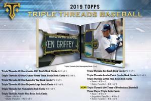 5 SPOTS 2018 TOPPS TRIPLE THREADS BASEBALL LIVE RANDOM PLAYER 1 BOX BREAK