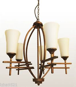 Spherical 5 LIGHTs ORB Globe CHANDELIER with White Shades