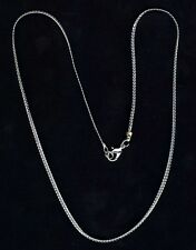 """Western Jewelry 2MM 18"""" Silver Plated Flat Snake Chain"""