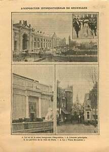 """Albert Ier & Élisabeth Exposition universelle de Bruxelles de 1910 ILLUSTRATION - France - Commentaires du vendeur : """"OCCASION"""" - France"""