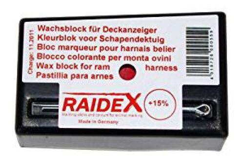 Wachsblock Raidex Farbe rot Farbblock 30215