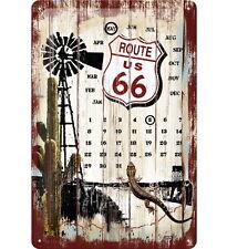 NOSTALGIE Kalender ROUTE 66 SURVIVAL Ewiger Kalender 20 x 30 cm NEU OVP!!