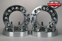 4 Wheel Spacers 8 Lug Chevy Silverado 8x180 2.5 Thick 14x1.5 Studs