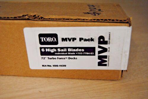 """105-7784-03 Genuine OEM Toro Exmark 24.5/"""" Hi-Flow Blades 6 Pack 108-1120 bnsqk"""