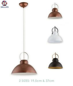 Pendant-Ceiling-Light-Cooper-Vintage-Lampshade-Industrial-Retro-Modern-Fitting