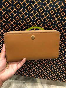 TORY-BURCH-Emerson-Continental-Wallet-in-Brown-w-gift-receipt