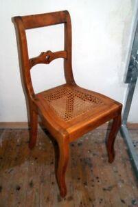 BIEDERMEIER-Stuhl-Sessel-um-1820-1830-Kirschholz-massiv