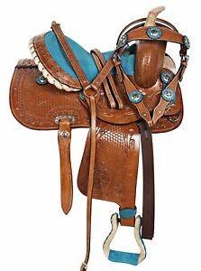 Premium Leather Western Racing Horse Saddle