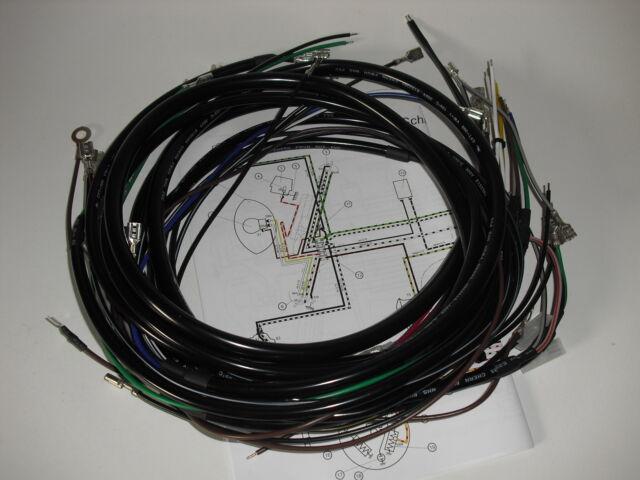Simson Kabelbaum Kabelsatz Kabel S50 S51 S70 + FARBIGER SCHALTPLAN
