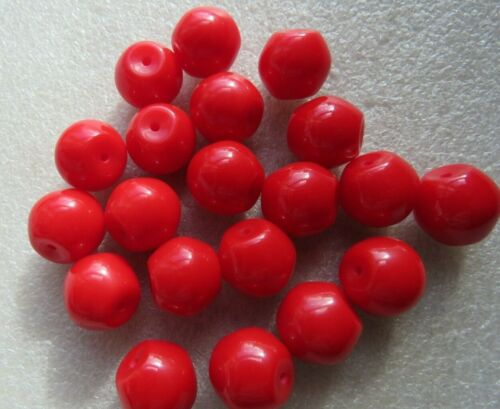50-200 rouge vif Off-perles rondes 14 mm Bijoux ou Craft Making