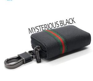 Key-Holder-Housekeeper-Organizer-Keychain-Cover-Zipper-Wallet-Bag-BLK-Universal