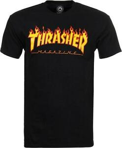 THRASHER-T-SHIRT-FLAME-MAG-LOGO-BLACK