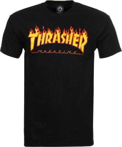 THRASHER T SHIRT FLAME MAG LOGO BLACK