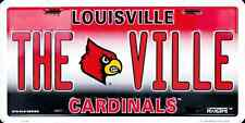 UNIVERSITY OF LOUISVILLE CARDINALS CAR TRUCK TAG PLATE THE VILLE METAL SIGN
