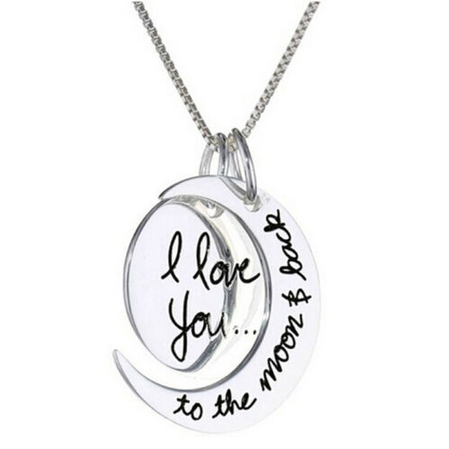 Chic Necklace I Love You To The Moon And Back Pendants Necklaces Jewelry CH