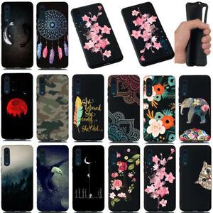 Pour-Huawei-P20-Lite-Pro-peint-Antichoc-en-silicone-souple-noir-TPU-Case-Cover