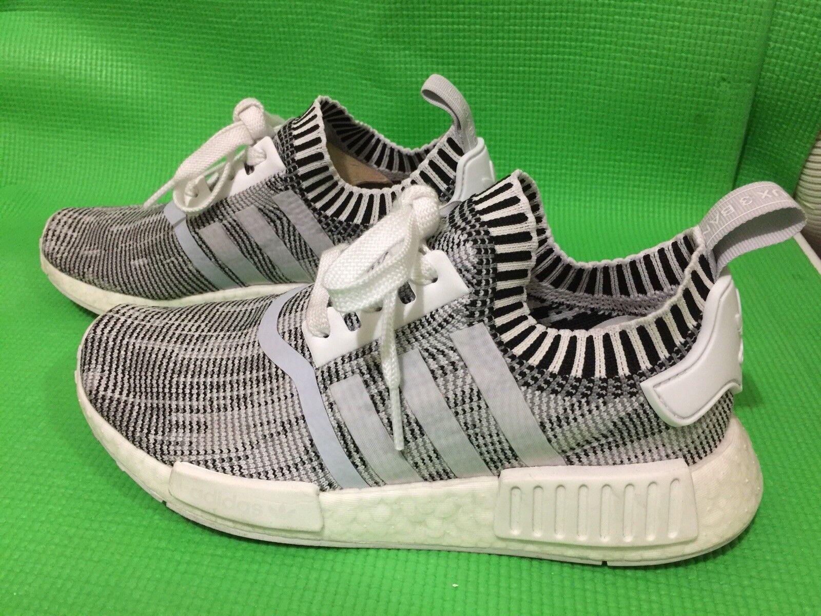 Nmd_r1 primeknit originali adidas mens grigio   grigio   nero 5y uomini usavano scarpe da corsa | Online Shop  | Uomo/Donna Scarpa