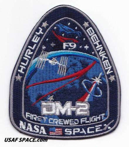 Authentic NASA Mission SpaceX Dragon DM-2 Space Flight Patch Launch May 27 2020