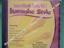 Songs of Randy Travis Volume 1 Christian Karaoke Style CD G Daywind 6 Songs