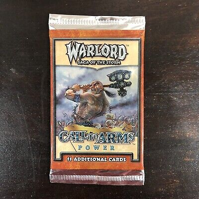 Warlord CCG Saga of the Storm CALL TO ARMS POWER sealed booster