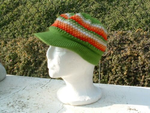 Alpaca wool hand crochet beanie or newspaper boy hat unisex