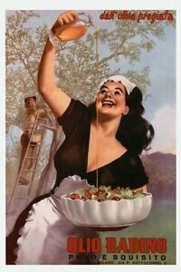 Food Olive Oil Kitchen Restaurant Italy Vintage Poster Repro FREE S//H in USA