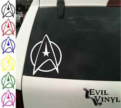 Star Trek Decal Car Window Vinyl Logo Nerd Starfleet iPhone Pad Sticker ANY SIZE