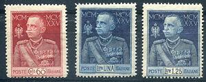 1925-Giubileo-del-Re-dent-13-1-2-3-valori-Nuovi-MNH-Regno
