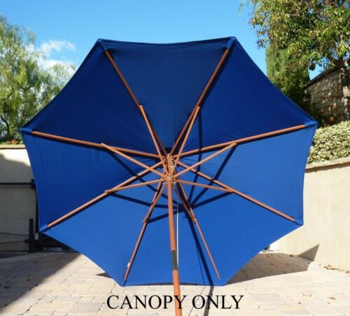 Canopy Only 9ft Replacement Market Umbrella Canopy 8 Ribs in Royal Blue