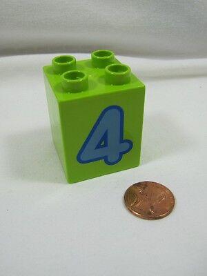 LEGO DUPLO NUMBER 1 Train Replacement 2 x 2 x 2 BLOCK Building White Brick Part