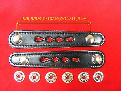 2 Stück Für Balgzughalter Länge 9 Cm Balgriemen/accordion Bellows Straps.! Durchsichtig In Sicht