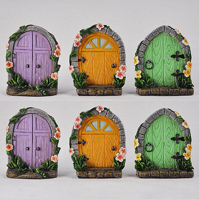 6 PACK of Fairy Doors Miniature Tree Garden Home Decor Mini Quirky Wood  39174 | eBay
