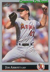 001 JIM ABBOTT CALIFORNIA ANGELS BASEBALL CARD LEAF 1992 HK2lSDWu-08024044-523056634