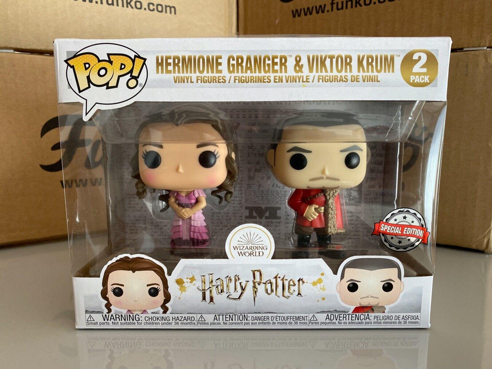Funko POP  Harry Potter HERMIONE GRANGER & VIKTOR KRUM 2-Pack Exclusive & Prot.