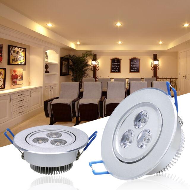 6 X 3W Warmweiss LED Spot Einbaustrahler Downlight Deckenlampen Einbauleuchte